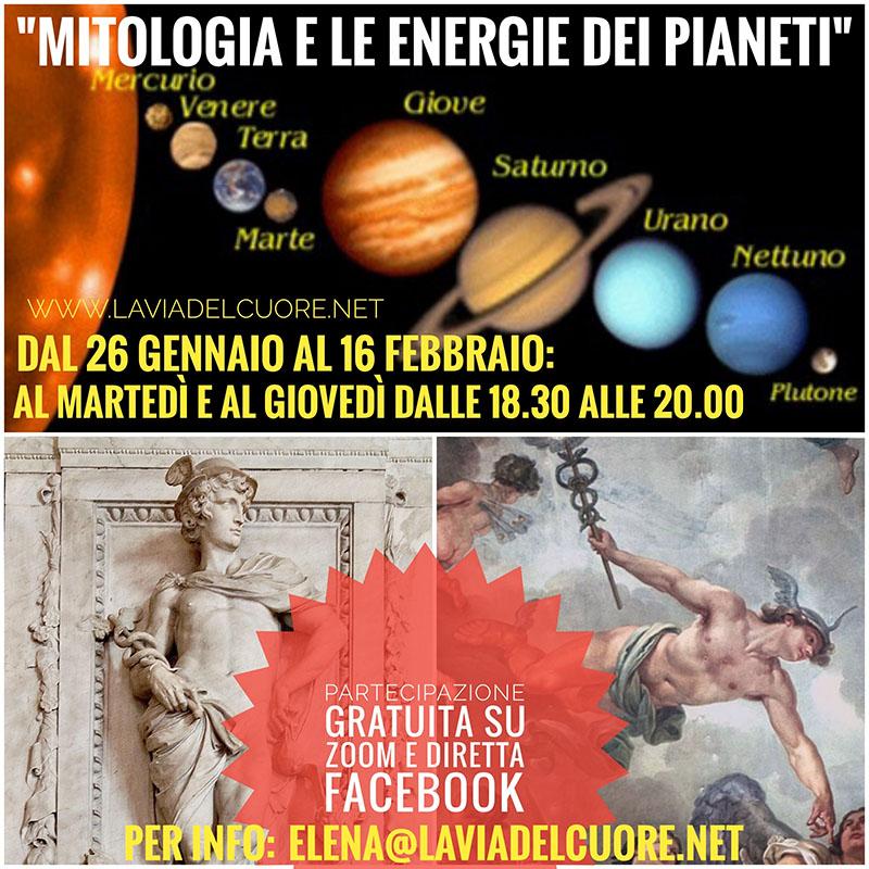 Evento Mitologia e Le Energie Dei Pianeti