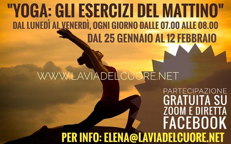 Evento Lo Yoga: Gli Esercizi Del Mattino